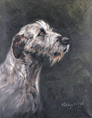 Painting - Irish Wolfhound by Kathryn Dalziel