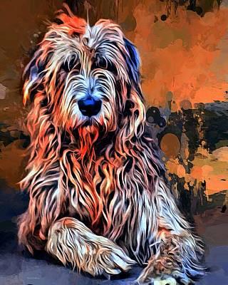 Pup Digital Art - Irish Wolfhound Portrait  by Scott Wallace