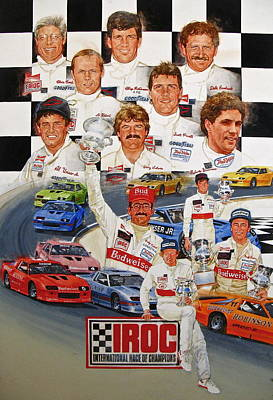 Art Print featuring the painting Iroc Racing by Cliff Spohn