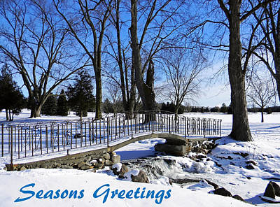 Photograph - Iron And Stone Bridge - Seasons Greetings by Debbie Oppermann