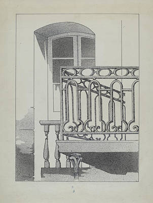 Romeo And Juliet Drawing - Iron Balcony by Arelia Arbo