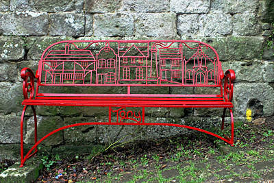 Photograph - Iron Bench by Tony Murtagh