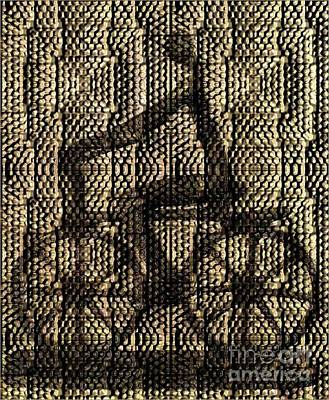 Digital Art - Iron Bicycle In Mosaic by Janette Boyd