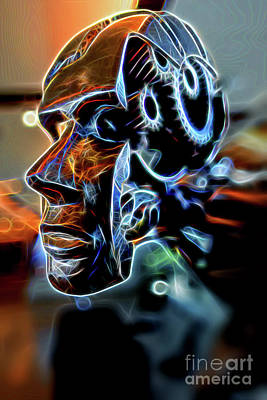 Iron Brain. Art Print by Viktor Birkus