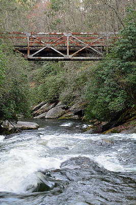 Iron Bridge Over Chattooga River Art Print by Bruce Gourley