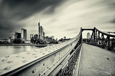 Frankfurt Photograph - Iron Bridge by Wecand
