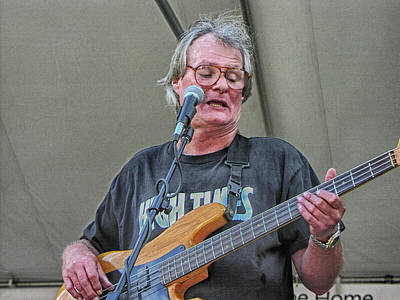 Photograph - Iron Butterfly's Bass Guitarist by Mike Martin