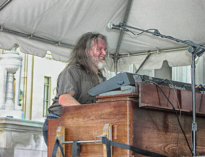 Photograph - Iron Butterfly's Keyboard Player by Mike Martin