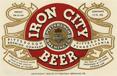 Photograph - Iron City Beer by Vintage Pix