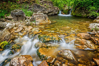 Photograph - Iron Creek Small Waterfall And Rapids by Ray Van Gundy