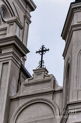 Photograph - Iron Cross On St. Louis Cathedral by Kathleen K Parker