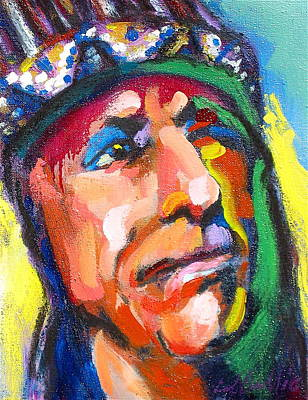 Painting - Iron Eyes Cody by Les Leffingwell