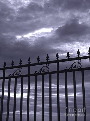 Photograph - Iron Fence And Gloomy Sky by Yali Shi