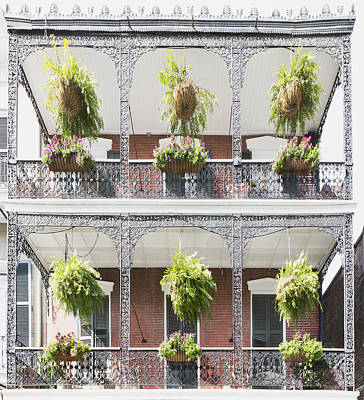 Photograph - Iron Filigree Balconies At 1217 Royal Street by Gregory Scott