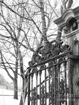Montreal Winter Scenes Photograph - Iron Gate by Reb Frost
