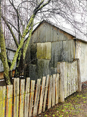 Photograph - Iron Home Timber Gate by Lexa Harpell