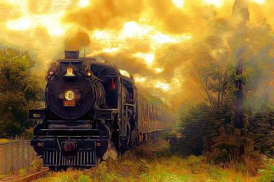 Passengers Mixed Media - Iron Horse by Aaron Berg