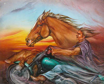 Painting - Iron Horse by Martin Katon