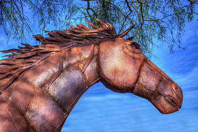 Blue Hues - Iron Horse by Paul Wear