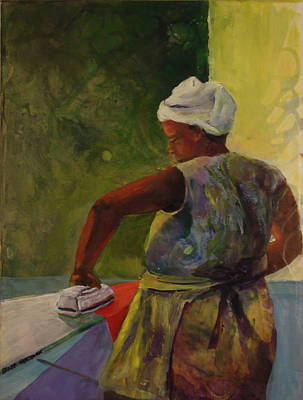 Pour Mixed Media - Ironing Lady by Buff Holtman