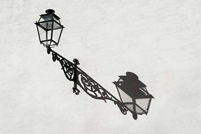 Photograph - Iron Lantern - A Study In Shadows And Contrasts by Georgia Mizuleva