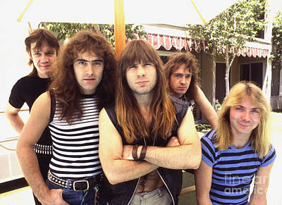 Photograph - Iron Maiden 1983 by Chris Walter