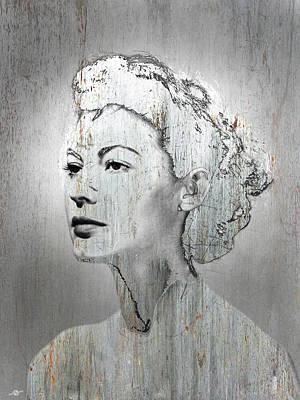 1960 Mixed Media - Silver Screen Eva Gardner by Tony Rubino