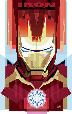 Digital Art Rights Managed Images - Iron Man Concept Royalty-Free Image by Garth Glazier