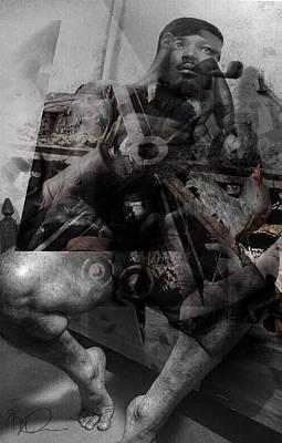 Nude Male Digital Art - Iron Man by David Derr