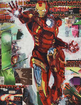 Painting - Iron Man by David Leblanc