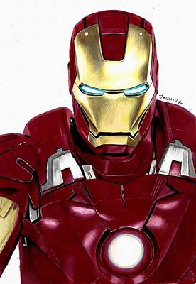Drawing - Iron Man Fanart by Jasmina Susak