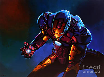 Rhodes Painting - Iron Man by Paul Meijering
