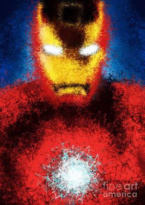 Artwork Digital Art - Iron Man by Prar Kulasekara