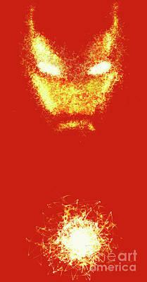 Iron Man  - Red  Art Print by Prar Kulasekara