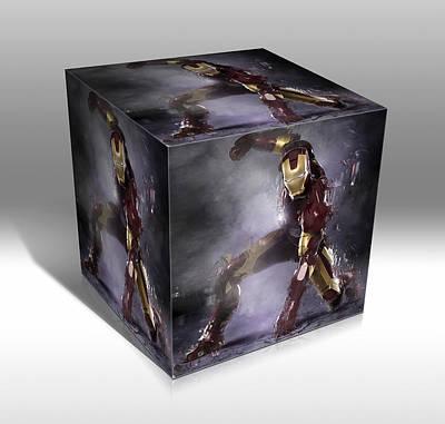 Mixed Media - Iron Man Strength by Marvin Blaine