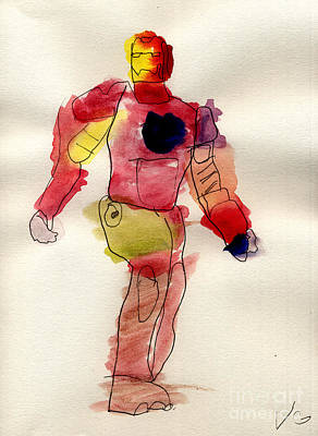 Iron Man Art Print by Vincent Gitto