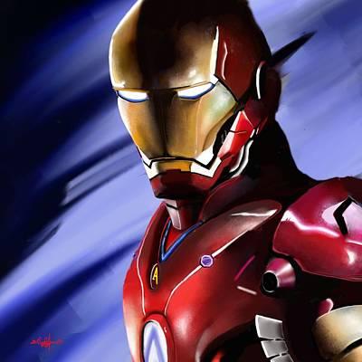 Digital Art - Iron Man's Glance. by Douglas Day Jones