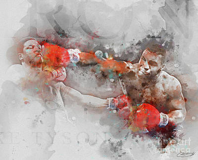 Knockout Digital Art - Iron Mike Tyson by The Styles Gallery