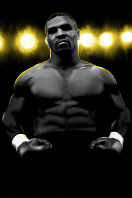 Mike Tyson Digital Art - Iron Mike Tyson by Donald Lawrence