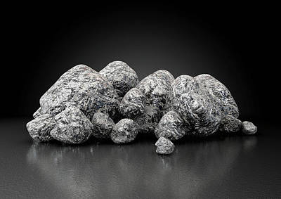 Macro Digital Art - Iron Ore Nugget Collection by Allan Swart