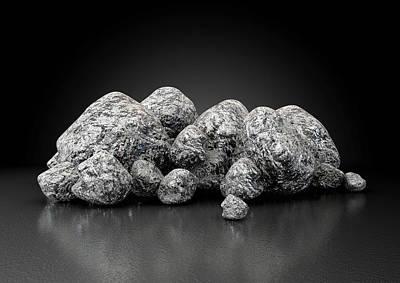 Precious Digital Art - Iron Ore Nugget Collection by Allan Swart