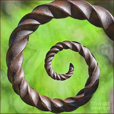 Iron Spiral Art Print