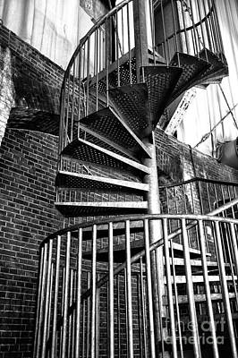 Photograph - Iron Staircase Mono by John Rizzuto