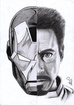 Ironman Drawings Drawing - Iron Stark by Yf Jarosova