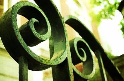 Architecture Textured Art Digital Art - Iron Swirls by Cathie Tyler