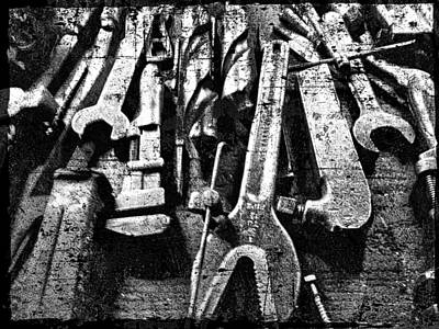 Photograph - Iron Tools by Joan Reese