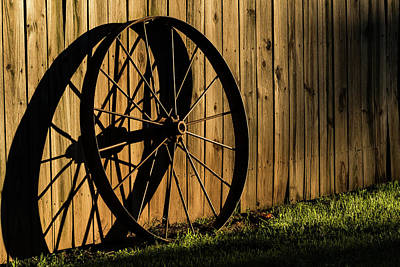 Photograph - Iron Wheel by Jay Stockhaus