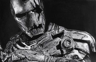 Drawing - Iron Zombie by Thomas Volpe