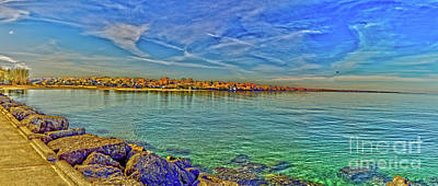 Photograph - Irondequoit Shoreline by William Norton