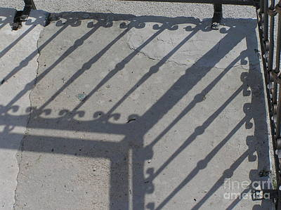 Photograph - Ironfenceshadow by Mary Kobet